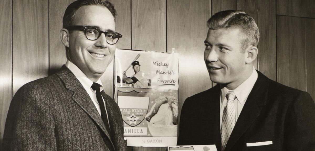 John Udderback with Mickey Mantle